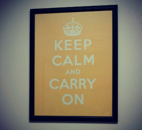 keep calm and carry on, katie wagner social media, twitter for business