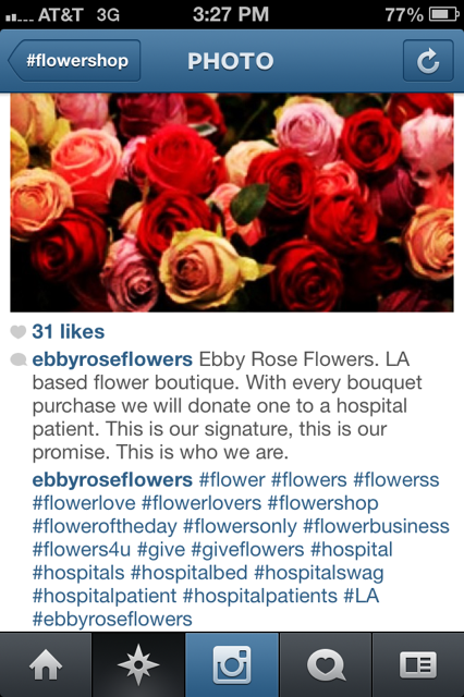 instagram flowers hashtag