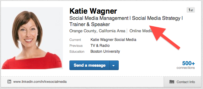 linkedin title, social media consultant, social media agency