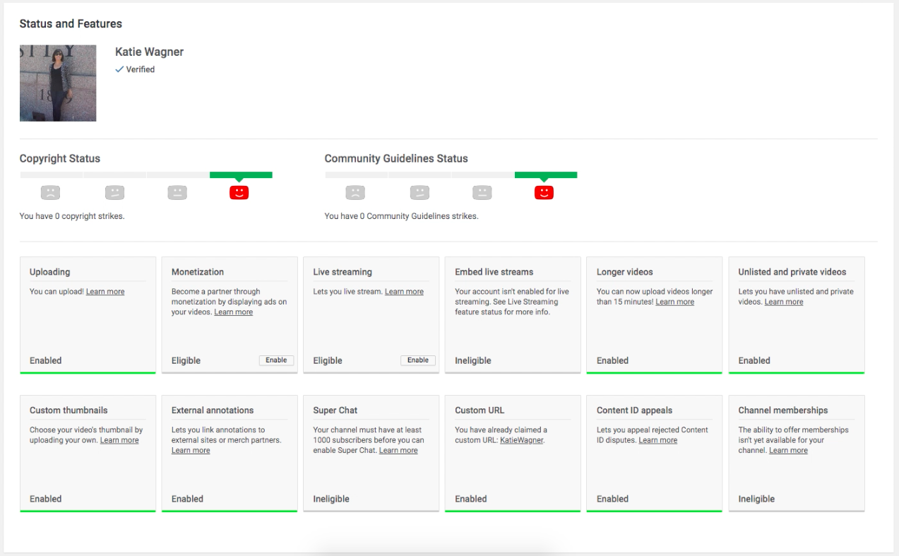 Step 5 - Confirm Your YouTube Custom Thumbnails Are Enabled