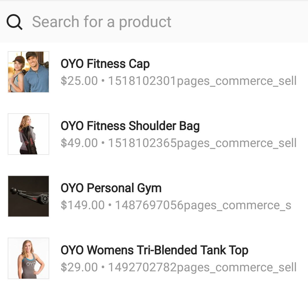 Product tagging in Instagram OYO