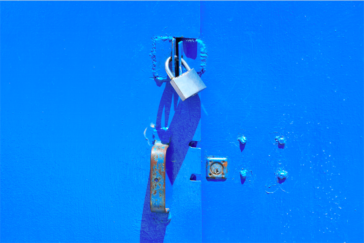 lock-on-blue-door