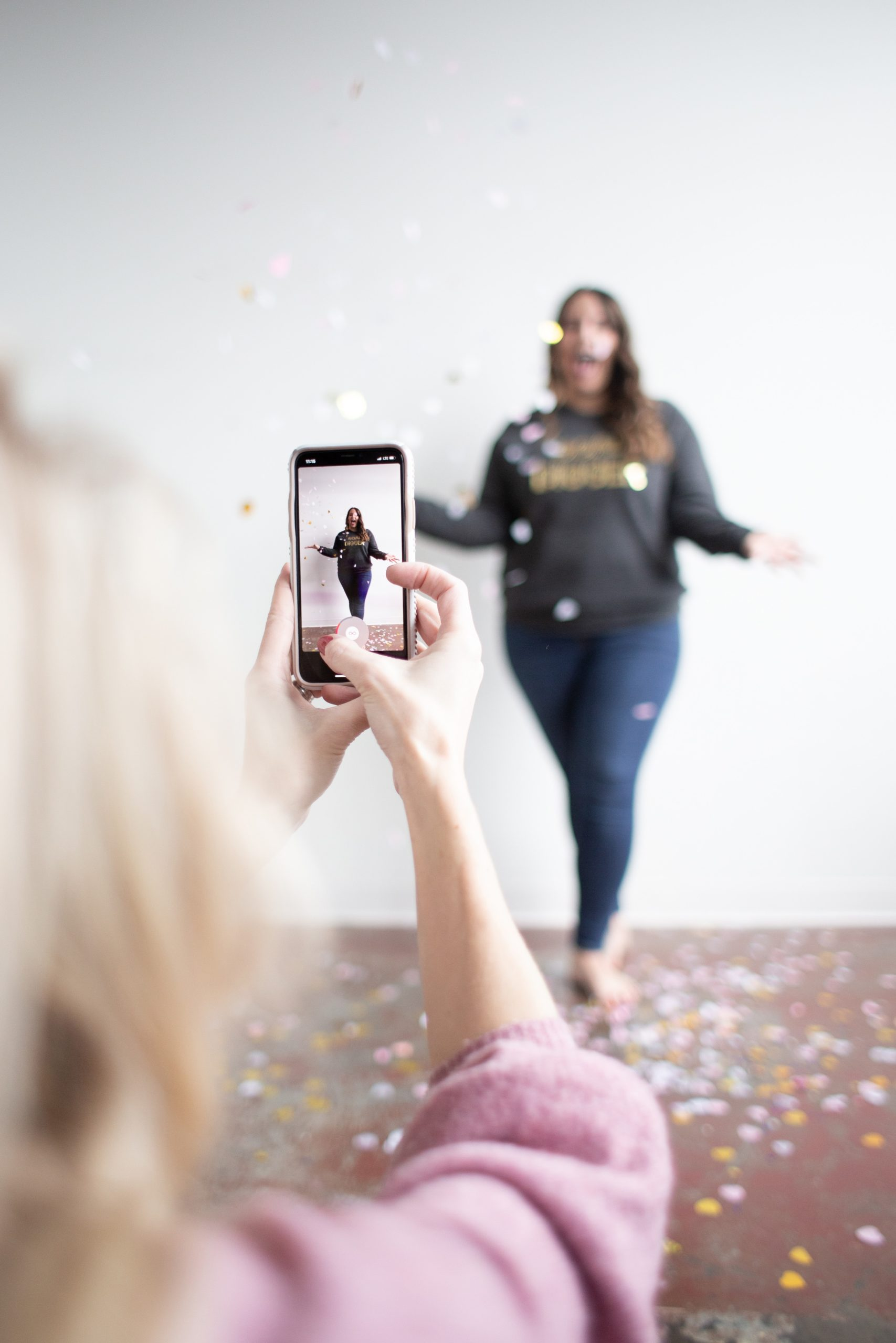 How To Make Your Facebook Stories Stand Out, woman taking photo