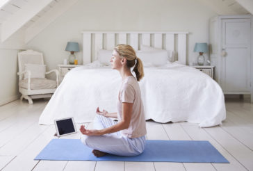 4 Pinterest Trends You Should Try Now, woman meditating in room