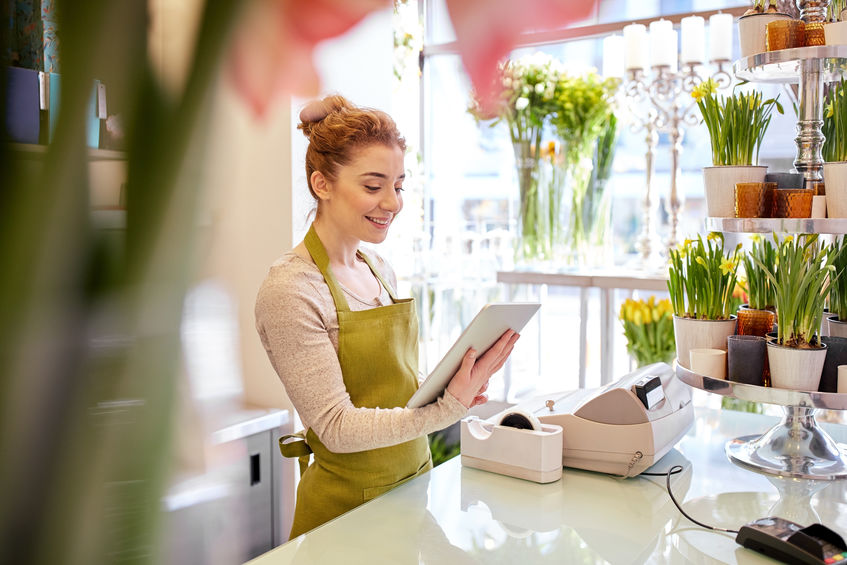 How to Use Your Instagram Business Account, woman in flower shop