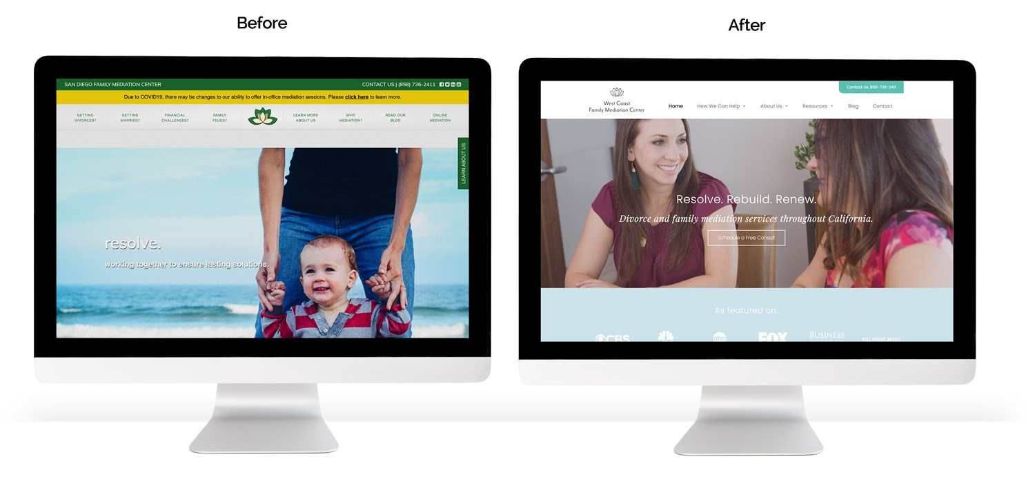 KWSM Case Study- redesign before and after