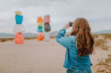 Seven Magic Mountains located right outside of Las Vegas